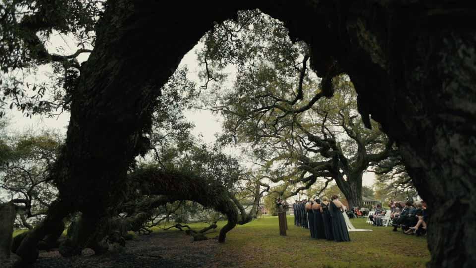 New Orlean Wedding Video- Stella Plantation Oak Trees